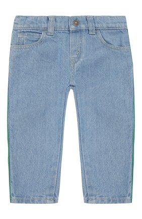 Детские джинсы с лампасами GUCCI голубого цвета, арт. 548223/XDAC4 | Фото 1