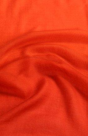 Женская палантин iride unique из кашемира LORO PIANA оранжевого цвета, арт. FAF1911   Фото 2 (Материал: Шерсть, Кашемир; Принт: Без принта; Статус проверки: Проверено, Проверена категория)