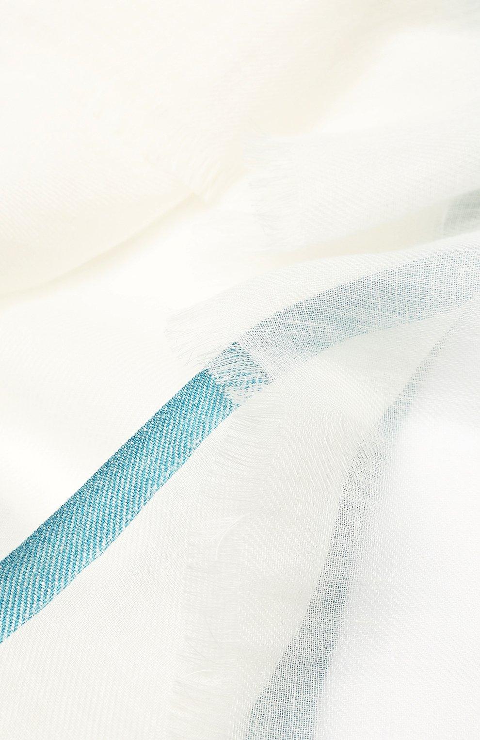 Женская шаль neilos из смеси льна и шерсти с шелком LORO PIANA белого цвета, арт. FAI1507   Фото 2