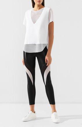 Женская футболка с перфорированной вставкой KORAL белого цвета, арт. A6124J07 | Фото 2