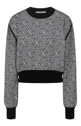 Пуловер из смеси хлопка и вискозы   Фото №1