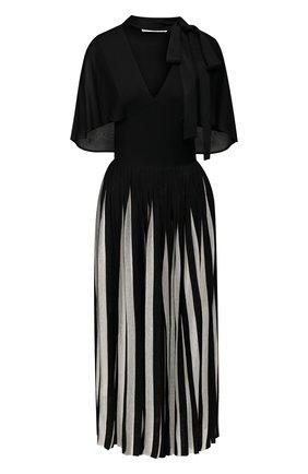 Платье из вискозы с воротником аскот | Фото №1