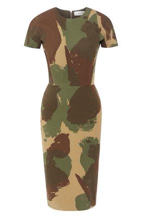 Хлопковое платье с принтом | Фото №1