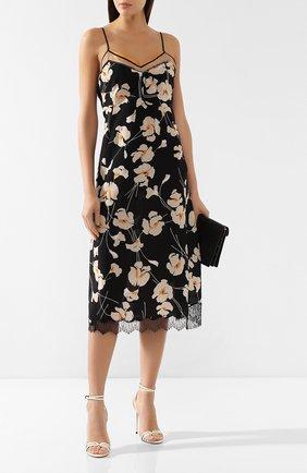 Шелковое платье No. 21 черное | Фото №2