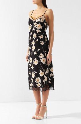 Шелковое платье No. 21 черное | Фото №3