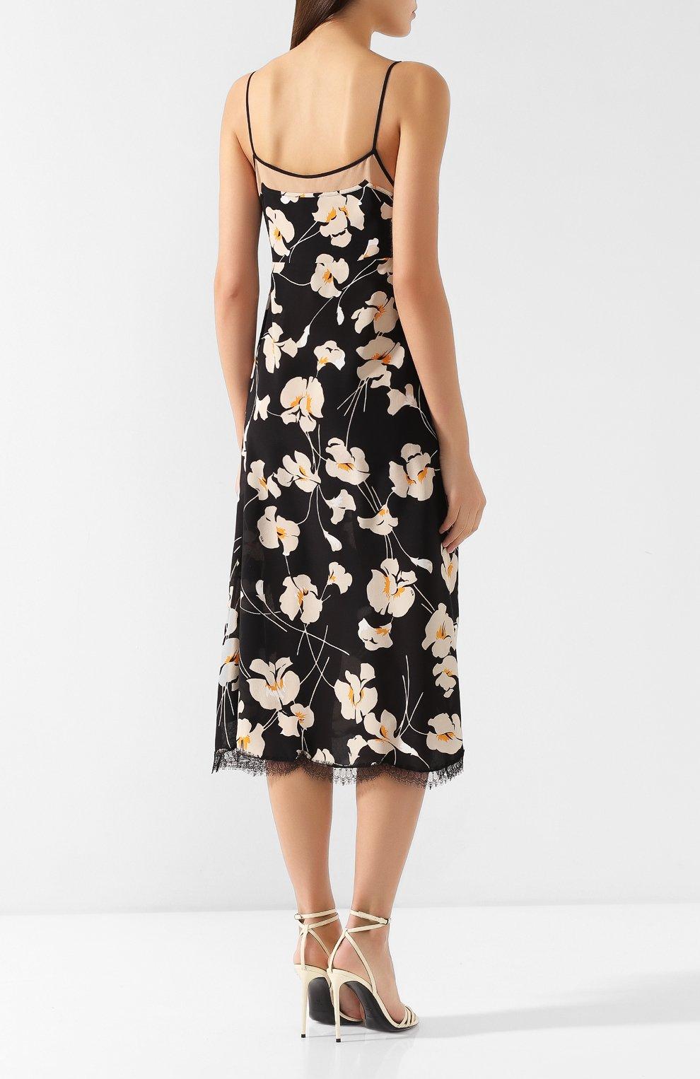 Шелковое платье No. 21 черное | Фото №4