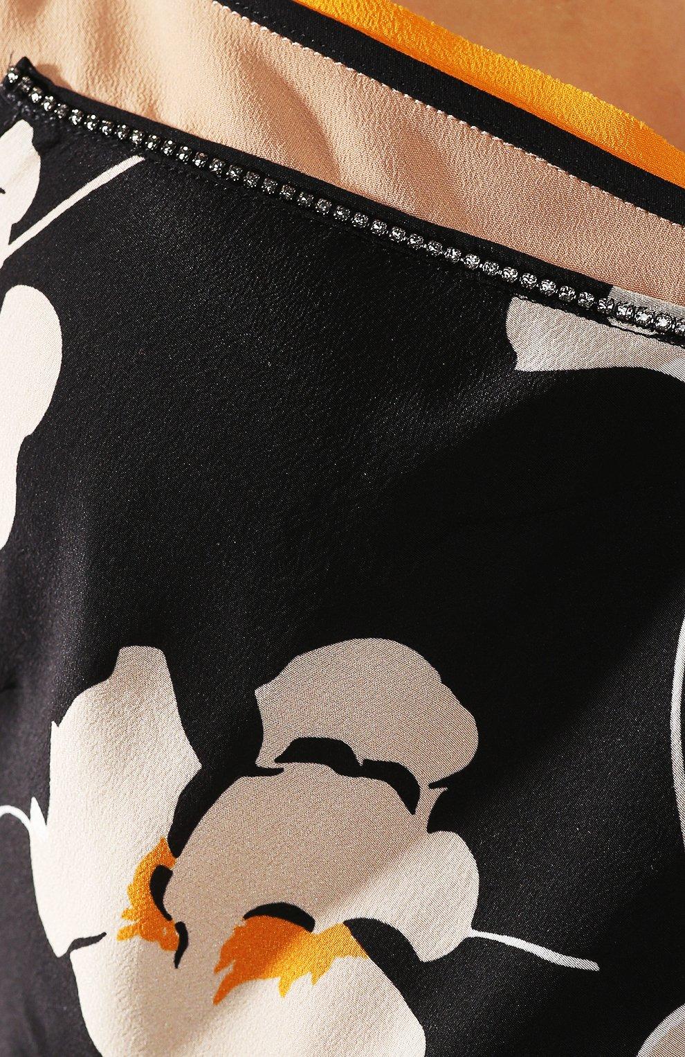Шелковое платье No. 21 черное | Фото №5