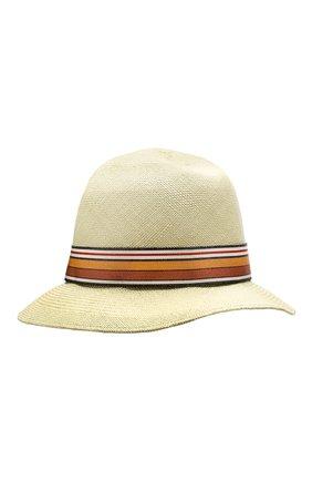 Соломенная шляпа Ingrid Loro Piana салатового цвета | Фото №2
