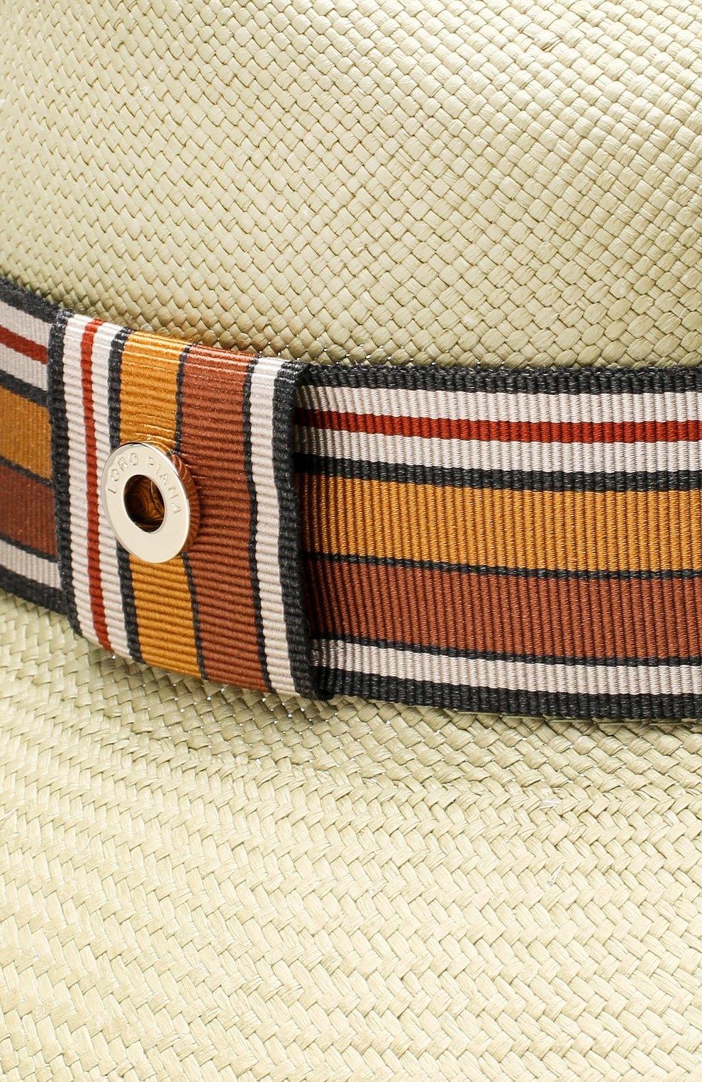 Соломенная шляпа Ingrid Loro Piana салатового цвета | Фото №3
