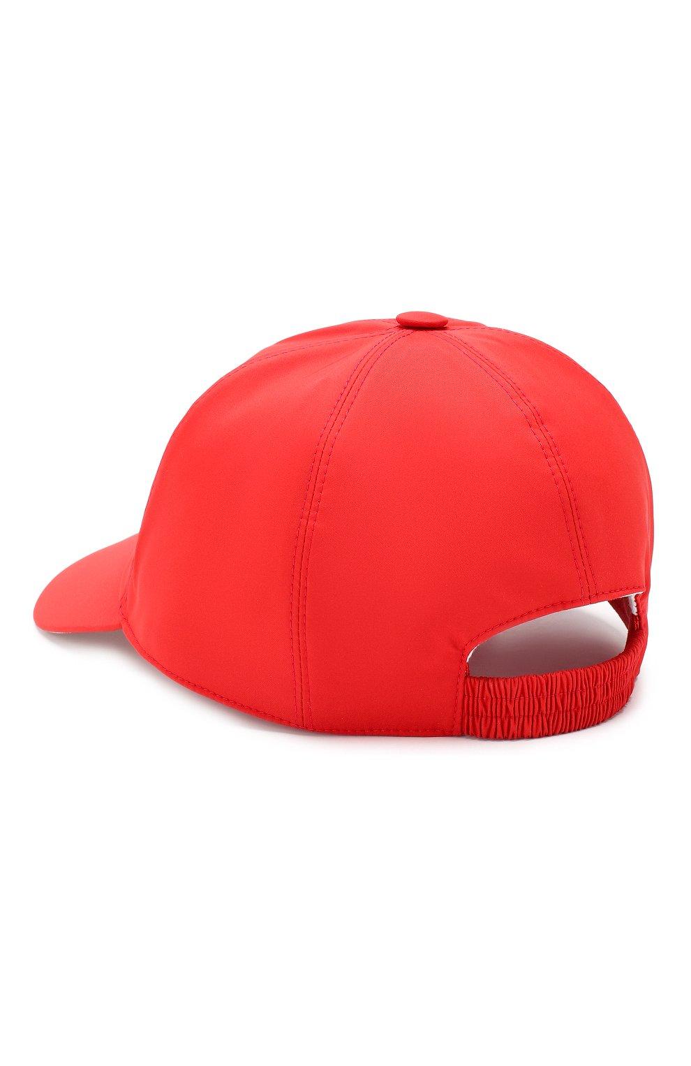 Текстильная бейсболка Loro Piana красного цвета | Фото №2