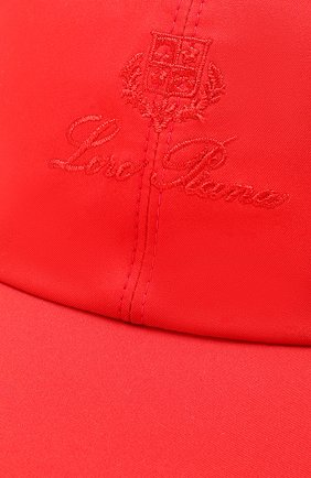 Текстильная бейсболка Loro Piana красного цвета | Фото №3