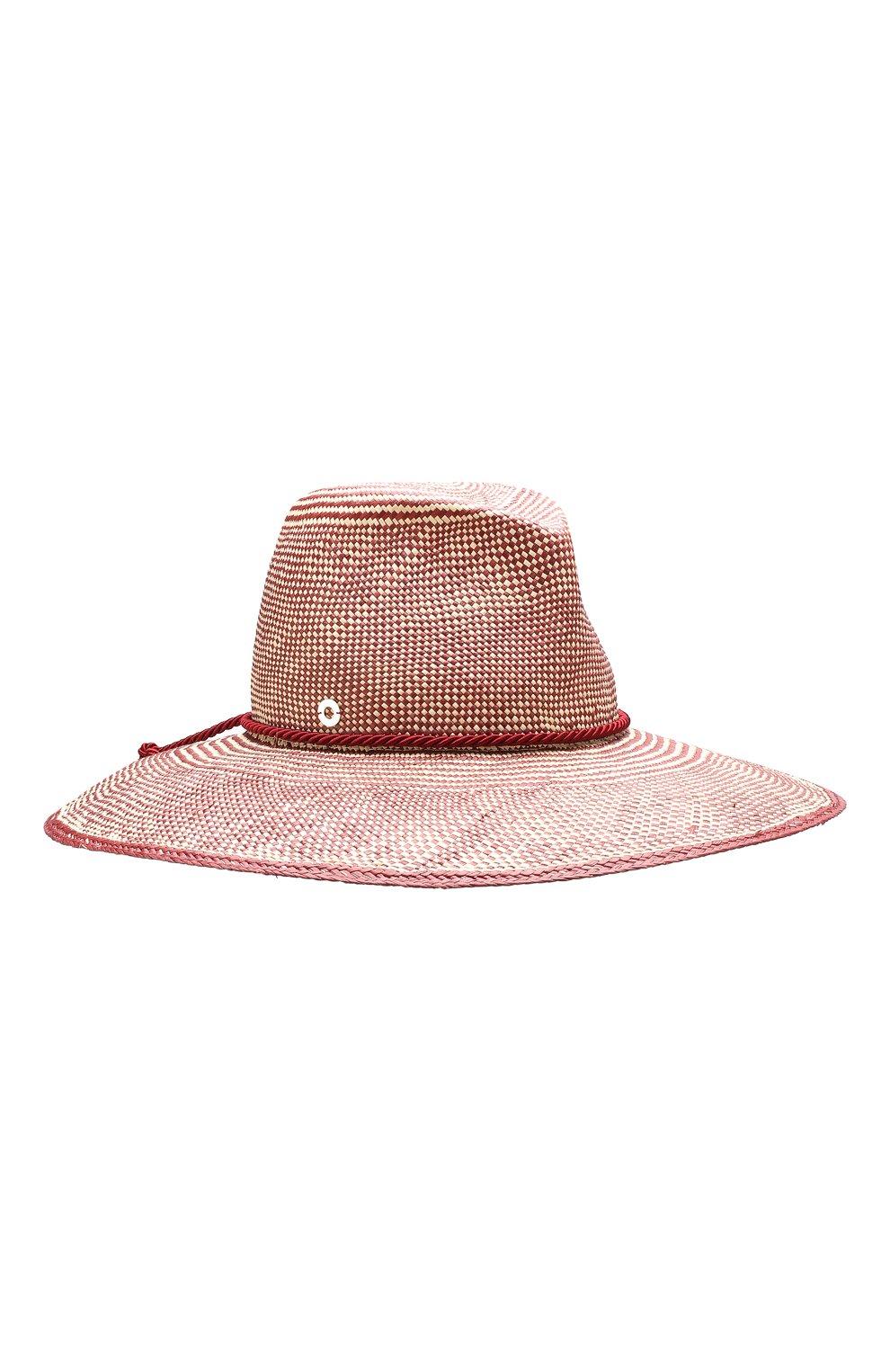 Женская соломенная шляпа lulu LORO PIANA бордового цвета, арт. FAI5691   Фото 1