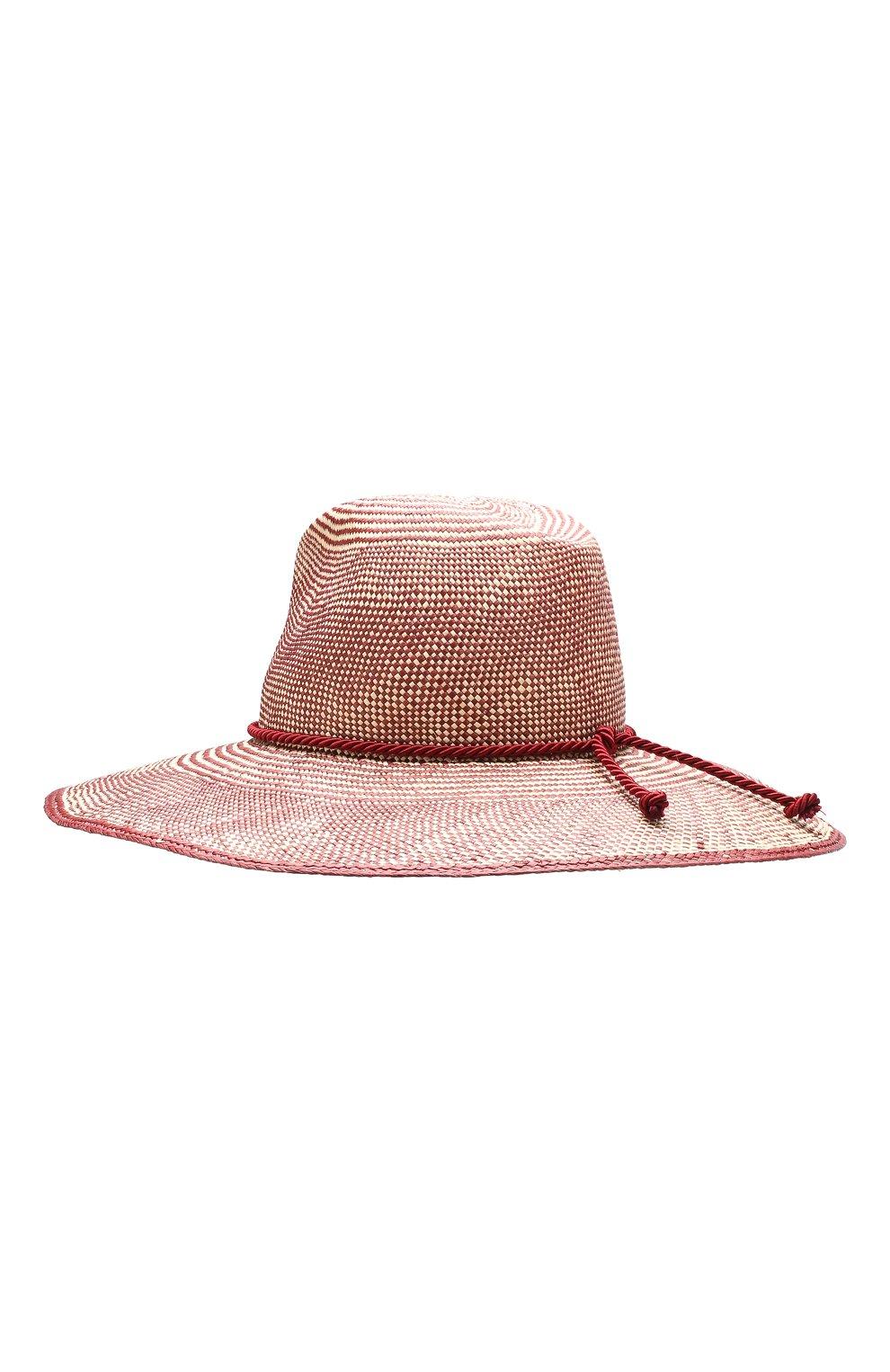 Женская соломенная шляпа lulu LORO PIANA бордового цвета, арт. FAI5691   Фото 2