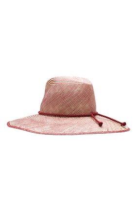Женская соломенная шляпа lulu LORO PIANA бордового цвета, арт. FAI5691 | Фото 2