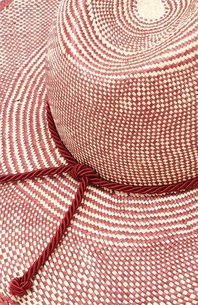 Женская соломенная шляпа lulu LORO PIANA бордового цвета, арт. FAI5691   Фото 3