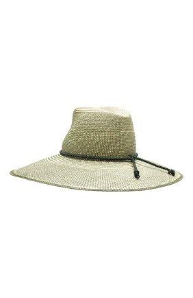 Женская соломенная шляпа lulu LORO PIANA зеленого цвета, арт. FAI5691   Фото 2