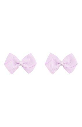 Детская комплект из двух заколок wavy bow JUNEFEE сиреневого цвета, арт. 4576 | Фото 1