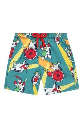 Детские плавки-шорты VILEBREQUIN зеленого цвета, арт. JIME9B15 | Фото 1