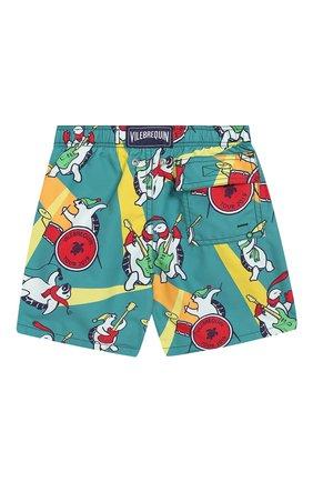 Детские плавки-шорты VILEBREQUIN зеленого цвета, арт. JIME9B15 | Фото 2
