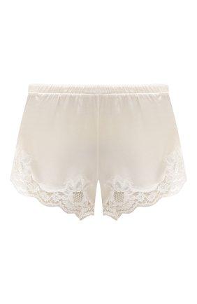 Женские шелковые шорты DOLCE & GABBANA белого цвета, арт. 03A02T/FUAD8 | Фото 1