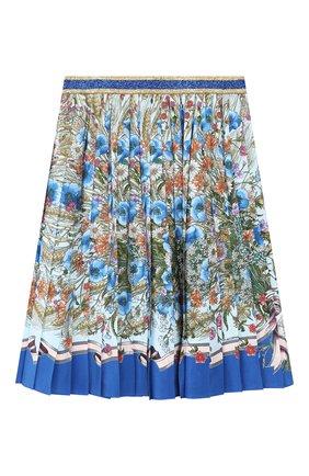 Плиссированная юбка из шелка | Фото №1