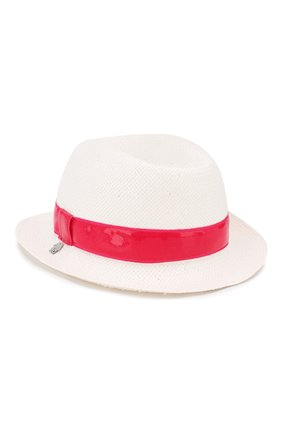 Детская соломенная шляпа SIMONETTA белого цвета, арт. 1K0276/KX310 | Фото 1