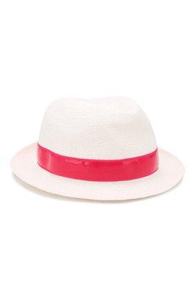 Детская соломенная шляпа SIMONETTA белого цвета, арт. 1K0276/KX310 | Фото 2
