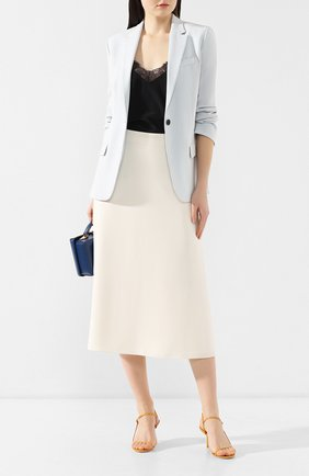 Женская юбка-миди THEORY кремвого цвета, арт. J0109302 | Фото 2