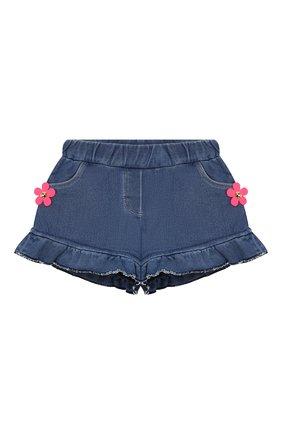 Детские джинсовые шорты MARC JACOBS (THE) синего цвета, арт. W04160/2A-3A | Фото 1