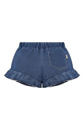 Детские джинсовые шорты MARC JACOBS (THE) синего цвета, арт. W04160/2A-3A | Фото 2