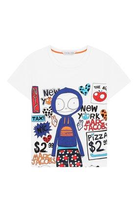 Детский хлопковая футболка MARC JACOBS (THE) белого цвета, арт. W05252/2A-3A | Фото 1
