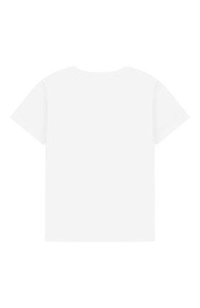 Детский хлопковая футболка MARC JACOBS (THE) белого цвета, арт. W05252/2A-3A | Фото 2