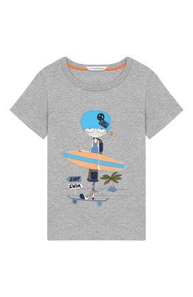 Детский хлопковая футболка MARC JACOBS (THE) серого цвета, арт. W05252/2A-3A | Фото 1
