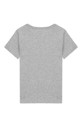 Детский хлопковая футболка MARC JACOBS (THE) серого цвета, арт. W05252/2A-3A | Фото 2