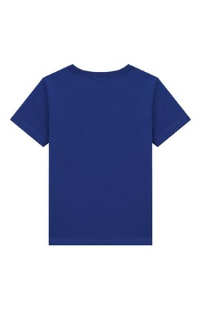 Детский хлопковая футболка MARC JACOBS (THE) синего цвета, арт. W05252/6M-18M | Фото 2