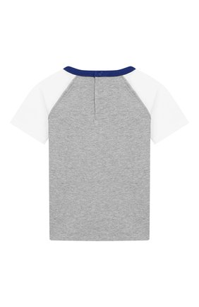 Детский хлопковая футболка MARC JACOBS (THE) серого цвета, арт. W05256/2A-3A | Фото 2
