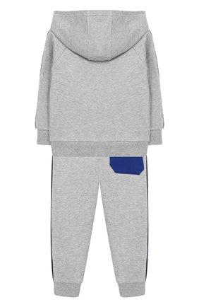 Детский комплект из хлопкового кардигана и брюк MARC JACOBS (THE) серого цвета, арт. W08064/6M-18M | Фото 2