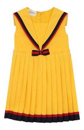 Женский платье GUCCI желтого цвета, арт. 551889/ZB365 | Фото 1