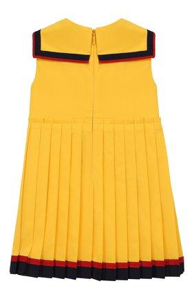 Женский платье GUCCI желтого цвета, арт. 551889/ZB365 | Фото 2
