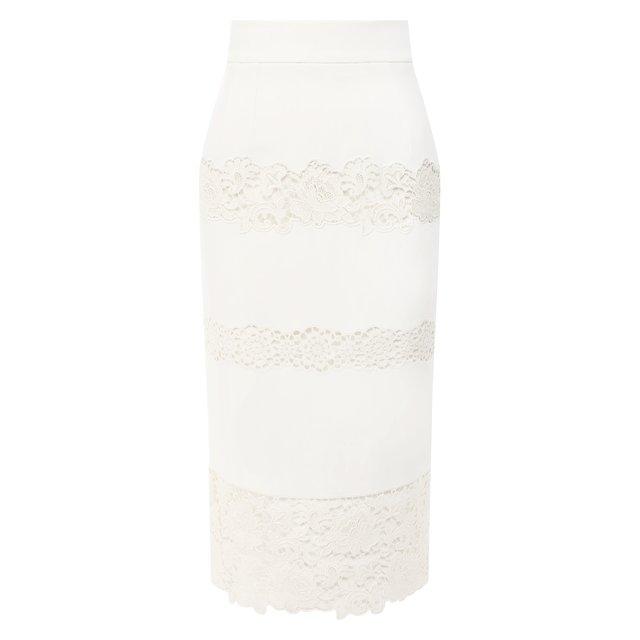 Юбка с кружевной отделкой Dolce & Gabbana