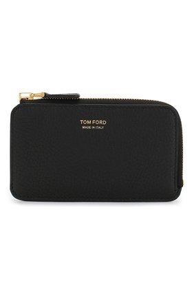 Мужской кожаный футляр для кредитных карт TOM FORD черного цвета, арт. Y0238T-CP9 | Фото 1