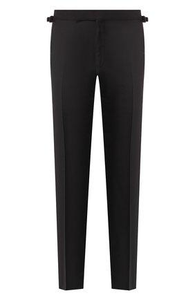 Мужской шерстяные брюки TOM FORD черного цвета, арт. 522R97/610048 | Фото 1