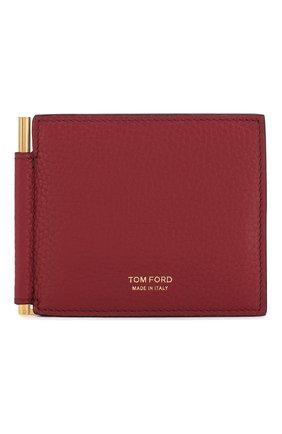 Мужской кожаный зажим для денег TOM FORD красного цвета, арт. Y0231T-CP9 | Фото 1