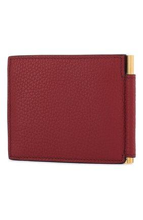 Мужской кожаный зажим для денег TOM FORD красного цвета, арт. Y0231T-CP9 | Фото 2