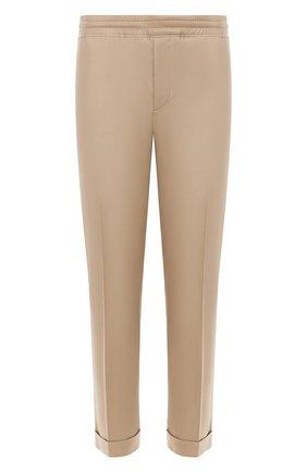 Мужской хлопковые брюки NEIL BARRETT бежевого цвета, арт. PBPA635/L032 | Фото 1