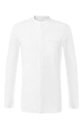 Хлопковая  рубашка с воротником мандарин   Фото №1