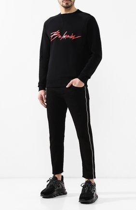 Джинсы прямого кроя Alexander McQueen черные | Фото №2