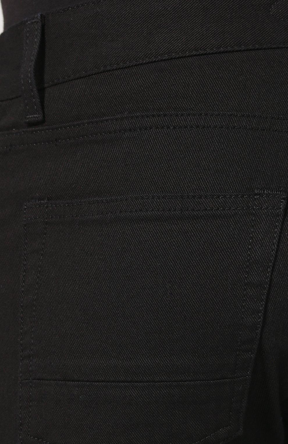 Джинсы прямого кроя Alexander McQueen черные | Фото №5