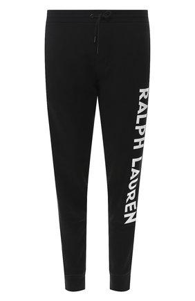 Мужской хлопковые джоггеры RALPH LAUREN черно-белого цвета, арт. 790736407 | Фото 1