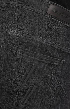 Джинсы прямого кроя Neil Barrett черные | Фото №5